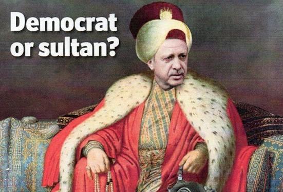 """تصویر مونتاژ شده از """"رجب طیب اردوغان"""" نخست وزیر ترکیه بر روی جلد مجله اکونومیست"""